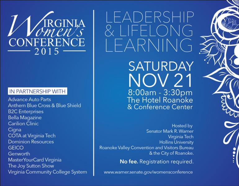Virginia Women's Conference 2015 Event Graphic